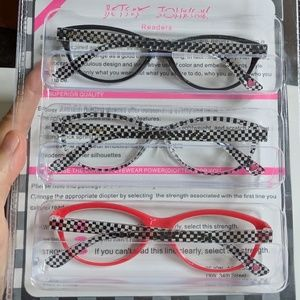 5ec44f1d216a Betsey Johnson Accessories - Betsey Johnson 3 Pack Readers Reading Glasses